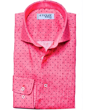 Pink Purple Dot Dress Shirt