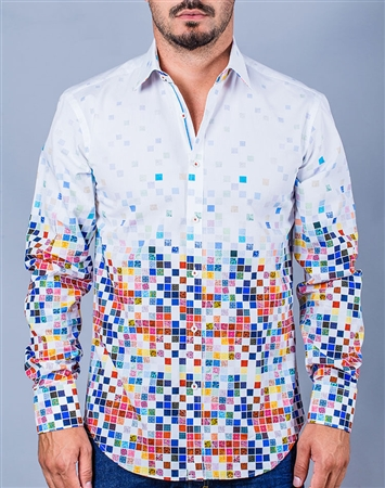 Halftone multi-colored Dress shirt