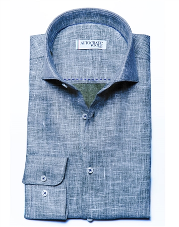 Green Linen Summer Shirt