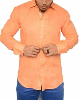 Italian Designer Shirt - Orange