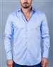 Blue jacquard fabric casual shirt