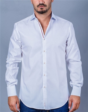 White Dress Shirt | White Casual Long Sleeve Dress Shirt