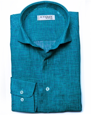 Turquoise Navy Button Down