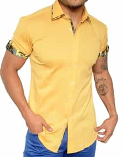 Designer Italian Shirt - Yellow