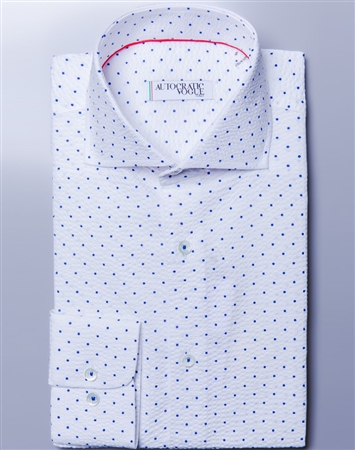 Sporty Dotted Shirt Autocratic Vogue  Mandorla