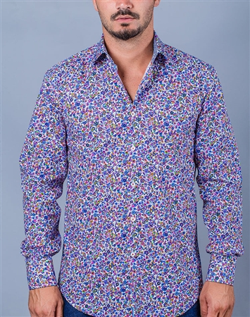 Floral Print Long Sleeve Dress Shirt
