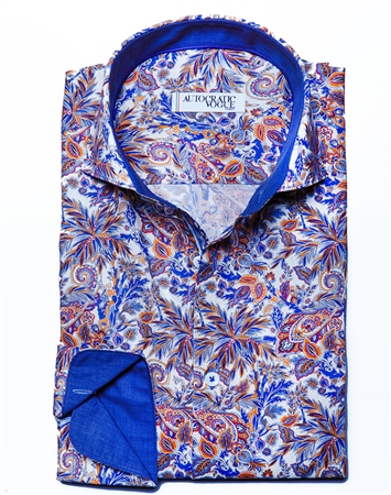 Luxury Floral Paisley Dress Shirt