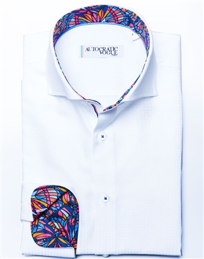 Modern White Dress Shirt