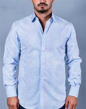 Light Blue Luxury Casual Shirt