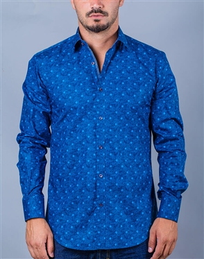 Blue fashionable shirt