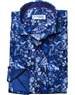 Designer Navy Floral Dress Shirt