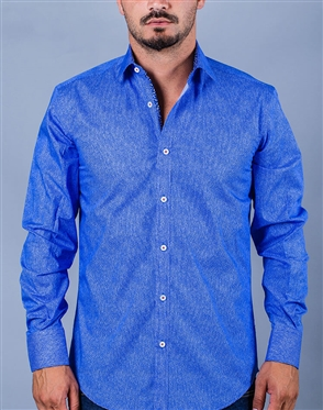 Blue Sport Casual Dress Shirt