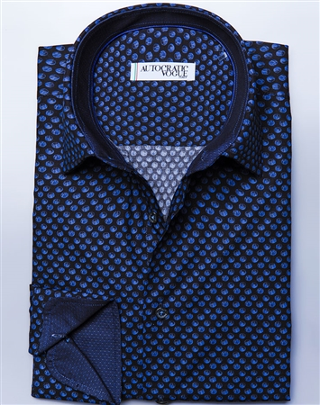 Black Navy Dot Dress Shirt