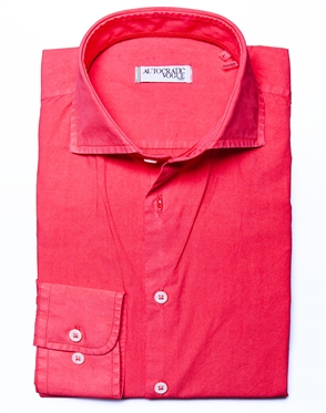 Luxury Solid Pink Button down