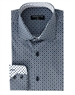 Designer Dress Shirt - Navy White Fashion Shirt