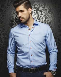 Luxury Dress Shirt - Azzaro Sky Blue