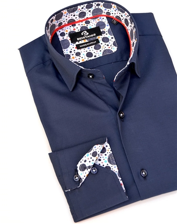 Elegant Navy Dress Shirt