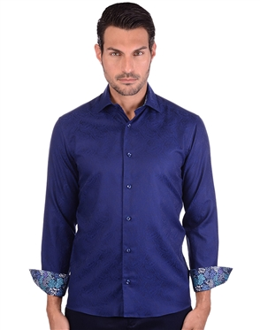 Bold Navy Luxury Dress Shirt