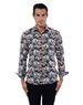 Floral Pattern Black Shirt