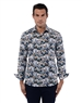 Floral Pattern Navy Shirt
