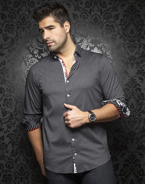 Au Noir Dress Shirt Belotti Black