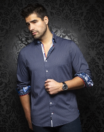 Au Noir Dress Shirt Belotti Navy
