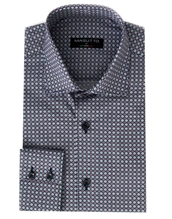Luxury Sport Shirt - Navy And White Designer Button Down