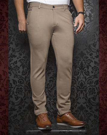 Fashionable Beige Pants - Baretta Beige