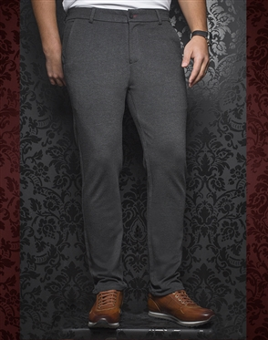 Fashionable Gray Pants - Baretta Charcoal