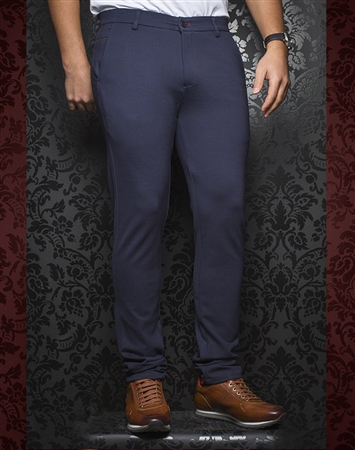 Fashionable Navy Pants - Baretta Navy
