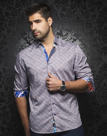 Luxury Men's Fashion shirt:  Bergamo Multi
