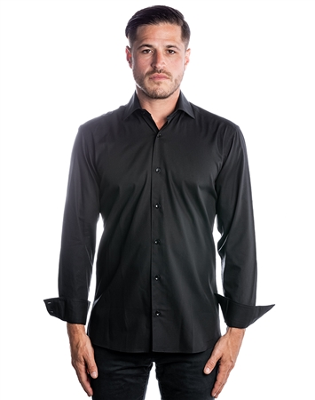 Luxury Dress Shirt - Classic Black Button Down