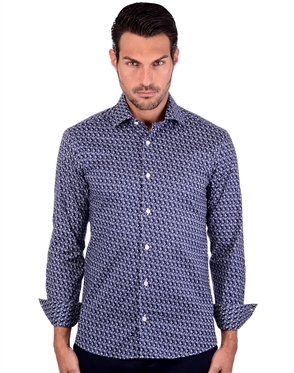Tailored Navy Men's Cotton Shirt