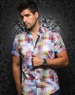 Fashionable Multi-Colored Short Sleeve Woven