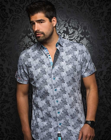 Stylish Black Floral Short Sleeve Woven