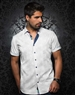 Fashionable White Short Sleeve Woven