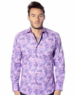 purple floral fashion shirt