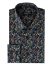 Men's Luxury Sport Shirt - Black Mosaic Print Woven