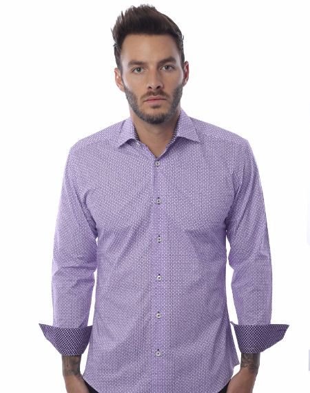 Luxury Lavender Dress Shirt