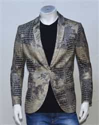 Mondo Brown Snake Blazer