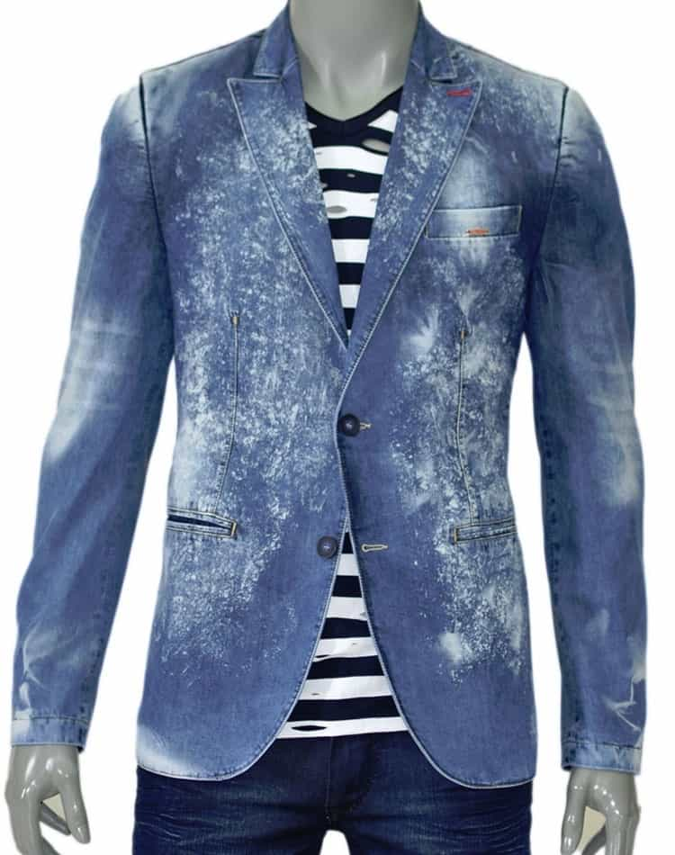 Shop The latest men Blazer: Men Denim Jeans Blazer c3149-20