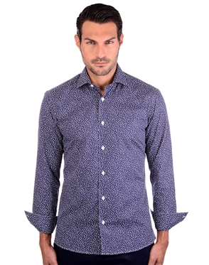 Royal Navy  Blue Cotton Shirt
