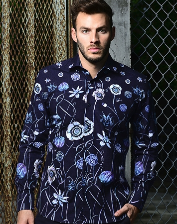 Shop Men Fashion Shirt - Navy Floral