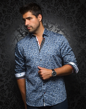 European Fashion Shirt - Casas Blue