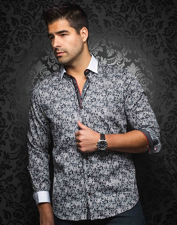 Luxury Men's Fashion shirt:  Casoria Black