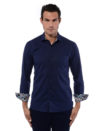 Contemporary Navy Shirt