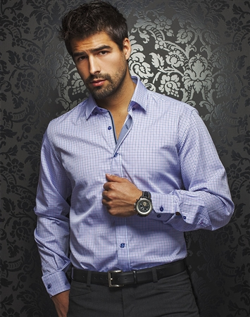 Fashionable Dress Shirt - Purple
