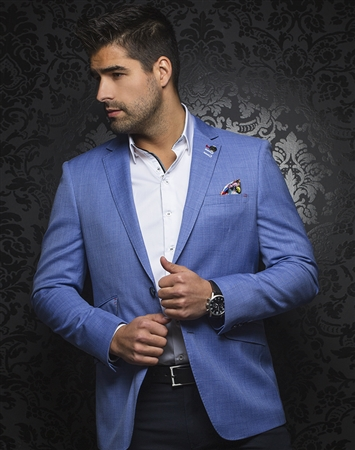 Luxury Men's Blazer - Chaplin Blue