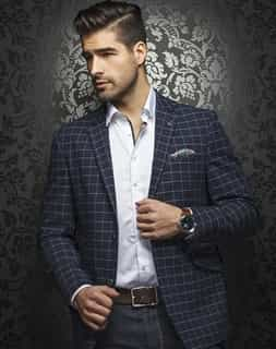 Shop Men | Men's Mid Night Navy Designer Sport Coat