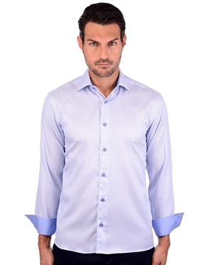 Elegant Light Blue Men's Luxury Shirt